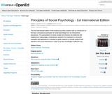 Principles of Social Psychology- 1stInternational Edition