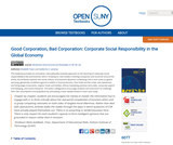 Good Corporation, Bad Corporation: Corporate Social Responsibility in the Global Economy