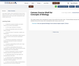 Canvas Course Shell for Concepts of Biology