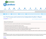 The Purpose and Content of an Independent Auditor's Report