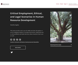 Critical Employment, Ethical, and Legal Scenarios in Human Resource Development
