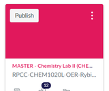Chemistry Lab II (CHEM 1020L) Canvas Course and Sample Syllabus