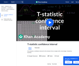 Statistics: T-Statistic Confidence Interval