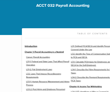 ACCT 032 Payroll Accounting