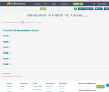 Introduction to  French 103 Course