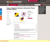 Topics in Algebraic Geometry: Intersection Theory on Moduli Spaces, Spring 2006