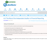 The Role of the Independent Auditor in Financial Reporting