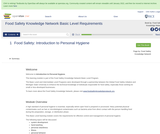 Food Safety Knowledge Network Basic Level Requirements