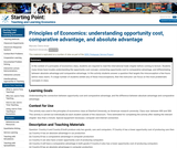 Principles of Economics: Understanding Opportunity Cost, Comparative advantage, and Absolute Advantage