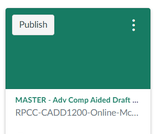 Computer Aided Drafting (CADD 1200) Canvas Course and Sample Syllabus