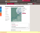 Economics Research and Communication, Spring 2012
