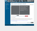 Introduction to Applied Statistics, Summer 2011