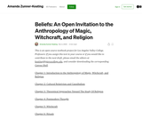 Beliefs: An Open Invitation to the Anthropology of Magic, Witchcraft, and Religion