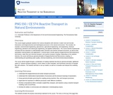 Reactive Transport in the Subsurface