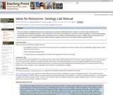 Ideas for Resources: Geology Lab Manual