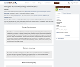 Principles of Social Psychology Review Rubrics