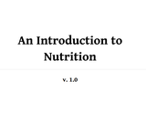 An Introduction to Nutrition
