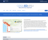 Advanced Python Programming for GIS (GEOG 489)