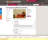 Civil Engineering Materials Laboratory, Spring 2004