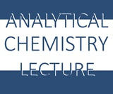 Analytical Chemistry Lecture