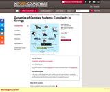 Dynamics of Complex Systems: Complexity in Ecology, Spring 2000