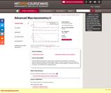 Advanced Macroeconomics II, Spring 2007