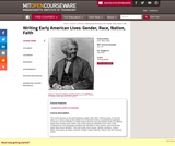 Writing Early American Lives: Gender, Race, Nation, Faith, Fall 2005