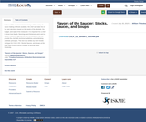 Flavors of the Saucier: Stocks, Sauces, and Soups