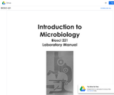 Introduction to Microbiology Laboratory Manual