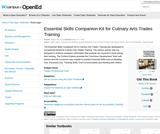 Essential Skills Companion Kit for Culinary Arts Trades Training