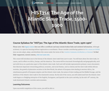 The Age of the Atlantic Slave Trade, 1500-1900