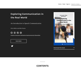 Exploring Communication in the Real World : An Introduction to Speech Communication