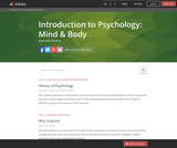 Introduction to Psychology: Mind & Body