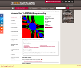 Introduction To MATLAB Programming, Fall 2011